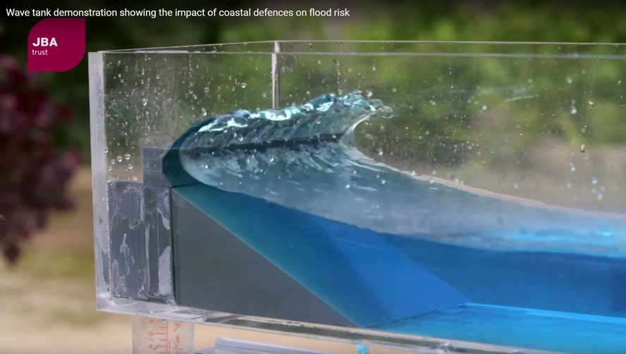 Wave Overtopping Demonstration Tank