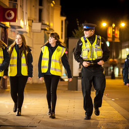 The University of Gloucestershire's students team up with local police to help keep the city saf