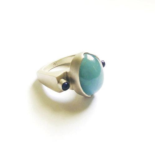 Aquamarine & Iolite Ring