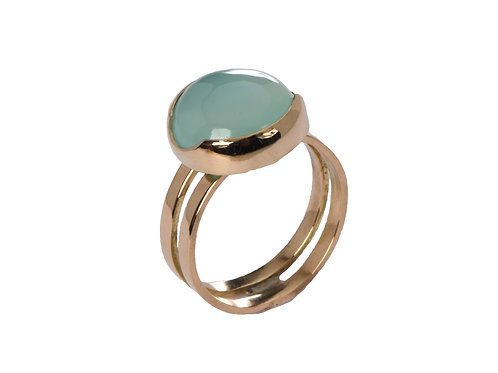 Chalcedony Double Bar Ring