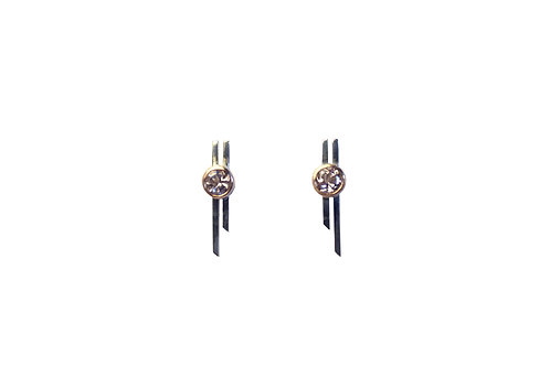 Double-bar earrings with Morganite