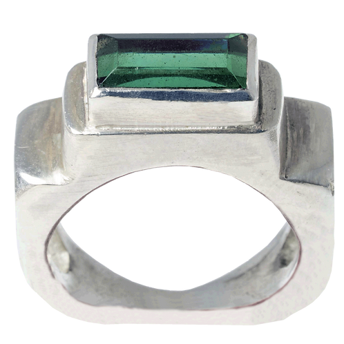 Rectangular Tourmaline Step Ring