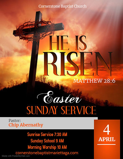 Copy of EASTER SUNDAY - Made with Poster