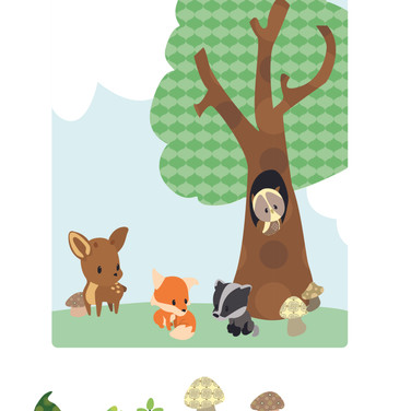 Woodland Friends Scene