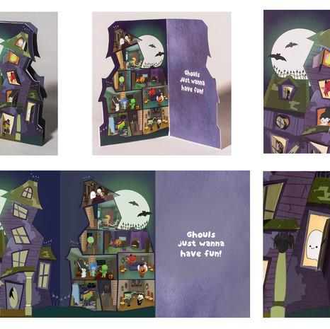 Halloween Card Spread