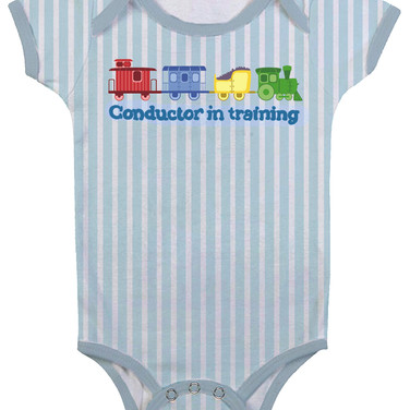 Conductor in Training Onesie