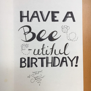 Bee Birthday Card (Inside)
