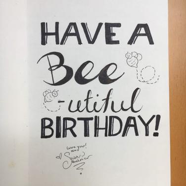 Bee Birthday Card (Inside)
