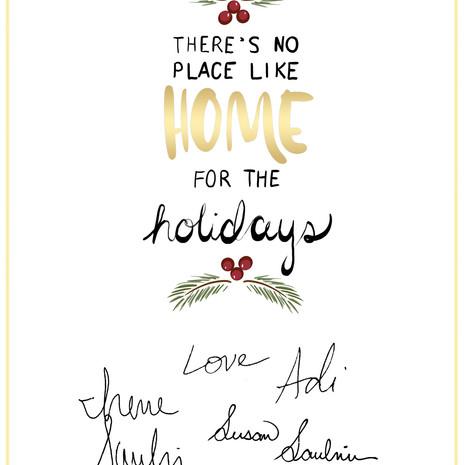 2017 Family Holiday Card; Inside