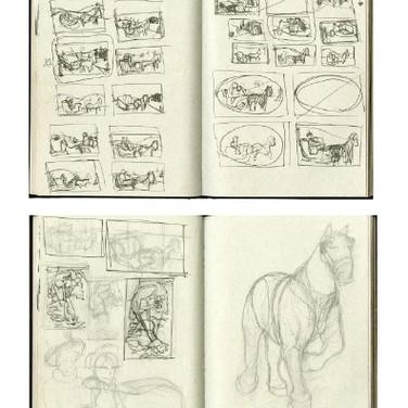 Holiday Card Sketches