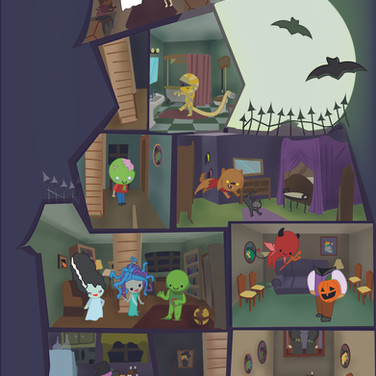 Halloween Card; Inside