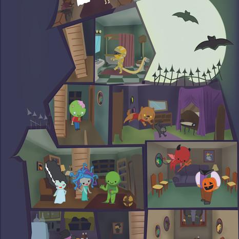 Halloween Card; Inside