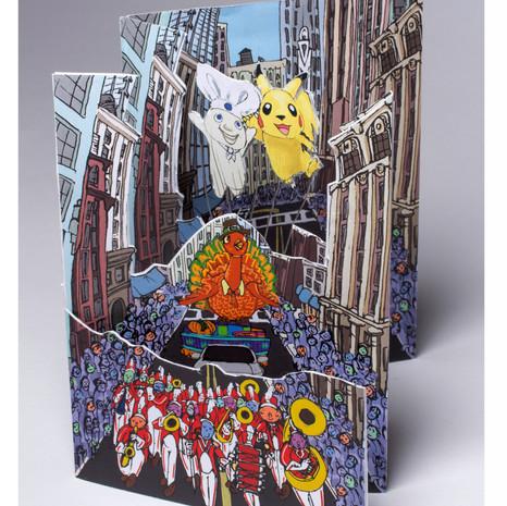 Thanksgiving Parade Card Open