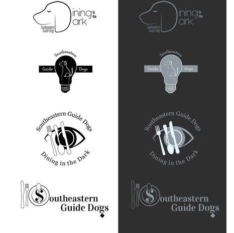 Southeastern Guide Dogs Dining in the Dark Logos