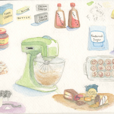 Baking Materials Sketches