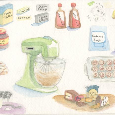 Baking Materials Sketches