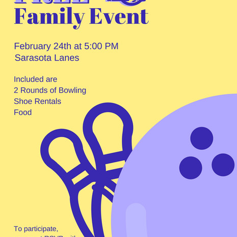 Family Bowling Night Poster