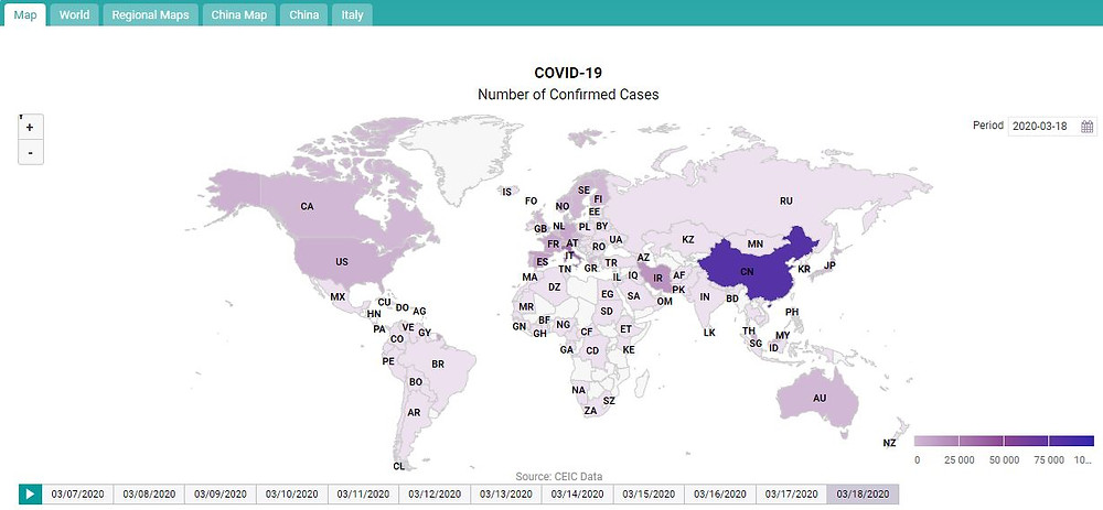 CEIC Data University Coronavirus Monitor
