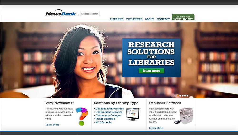 NewsBank's new website: www.newsbank.com