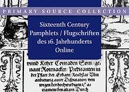 Sixteenth Century Pamphlets Online