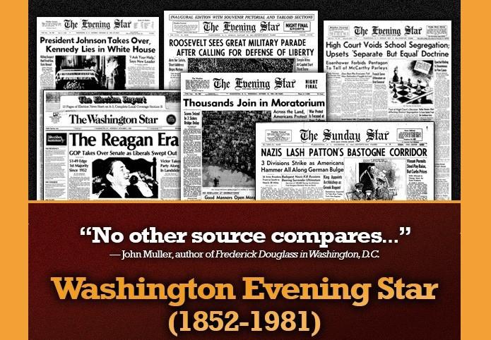 Washington Evening Star, 1852–1981