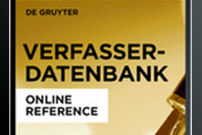 Author Database: Writers of German-Language Literature and the German-Speaking World / Verfasser-Datenbank