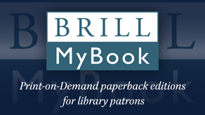 Brill MyBook: Print-on-demand paperback editions for library patrons