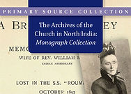 Archives of the Church in North India: Monograph Collection