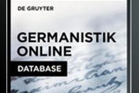 Germanistik Online Database / Germanistik Online Datenbank