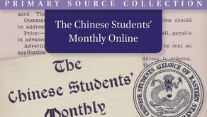Now available to trial from Brill: The Chinese Students' Monthly Online