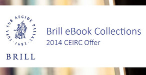 Out now: The 2014 CEIRC Offer for Brill eBook Collections
