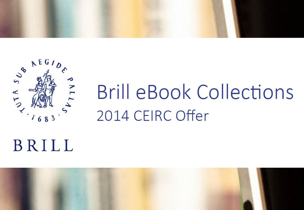 2014 CEIRC Offer for Brill eBook Collections
