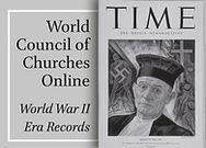 World Council of Churches: World War II Era Records Online