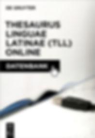 Thesaurus Linguae Latinae (TLL) Online