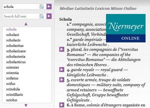 Niermeyer Online: Dictionary of Medieval Latin