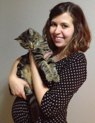 Louise and our office kitten, Barnaby