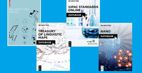 New Databases from De Gruyter in Architecture, Linguistics, Chemistry, and Nanoscience