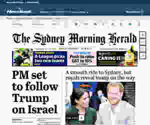 Sydney Morning Herald cover