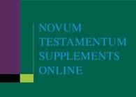 Novum Testamentum Supplements Online