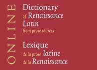 New from Brill: Dictionary of Renaissance Latin from Prose Sources Online
