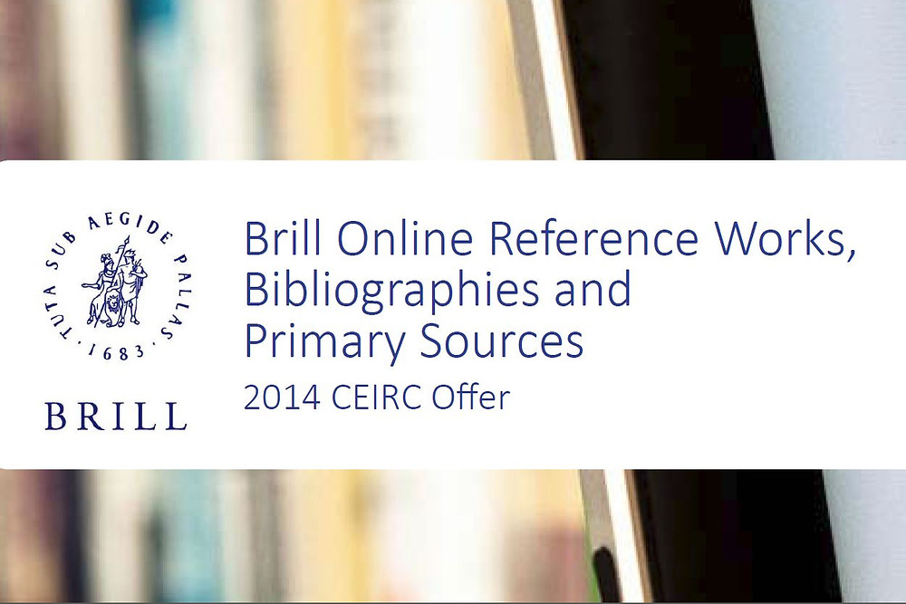 2014 CEIRC Offer for Brill Online Reference Works