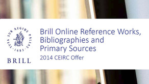 Out now: The 2014 CEIRC Offer for Brill Online Reference Works