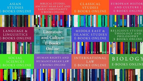 Out now: Brill's 2016 ebook collections