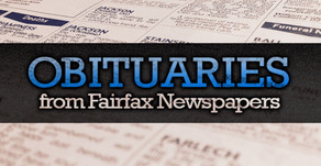 Obituaries from Fairfax newspapers now available via NewsBank