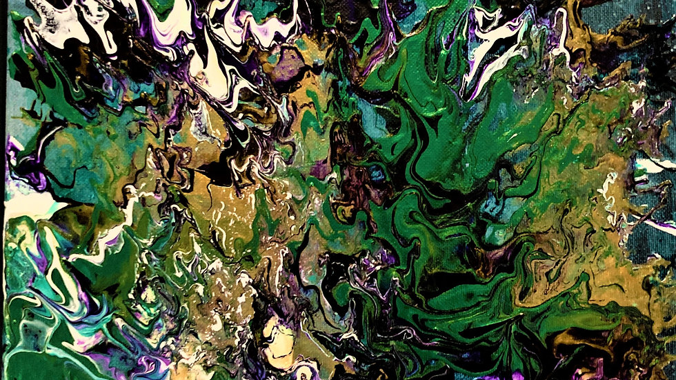 Frog Splat- Abstract Painting