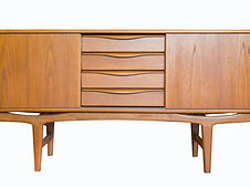 retro Television cabinet isolate on whit