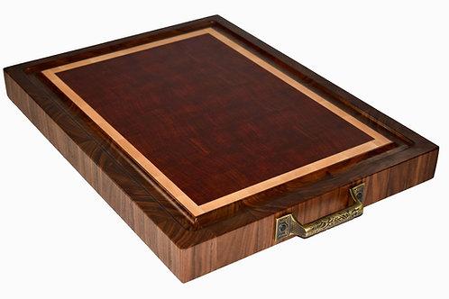 African Padauk, Sugar Maple & Black Walnut Carving Board