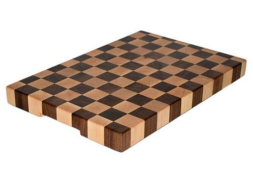 Walnut & Sugar Maple Checkered End Grain Cutting Boards
