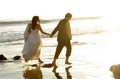 Odelia & Mark after the wedding