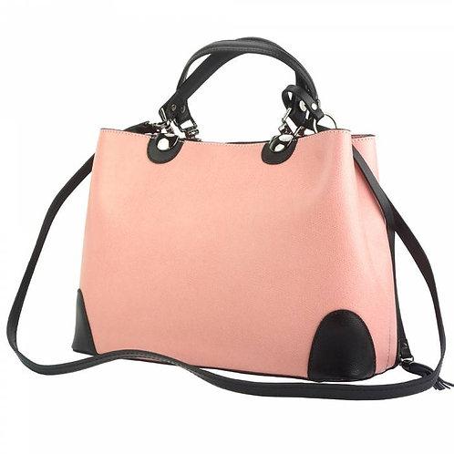 Irma leather Handbag pink